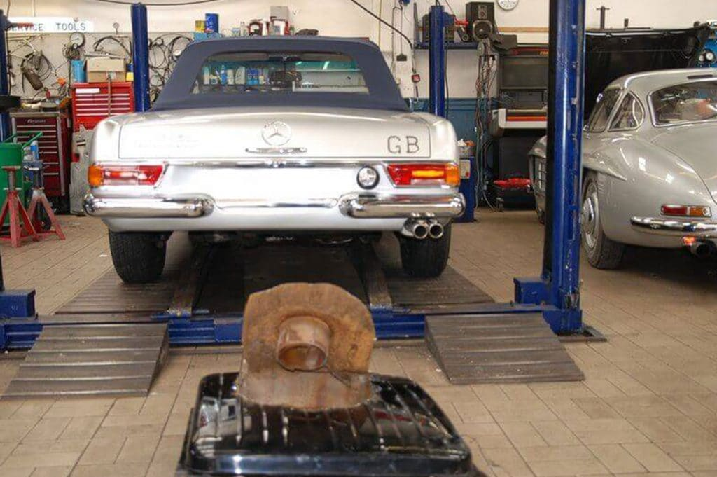1966 Mercedes 230SL W113 running fault fixed