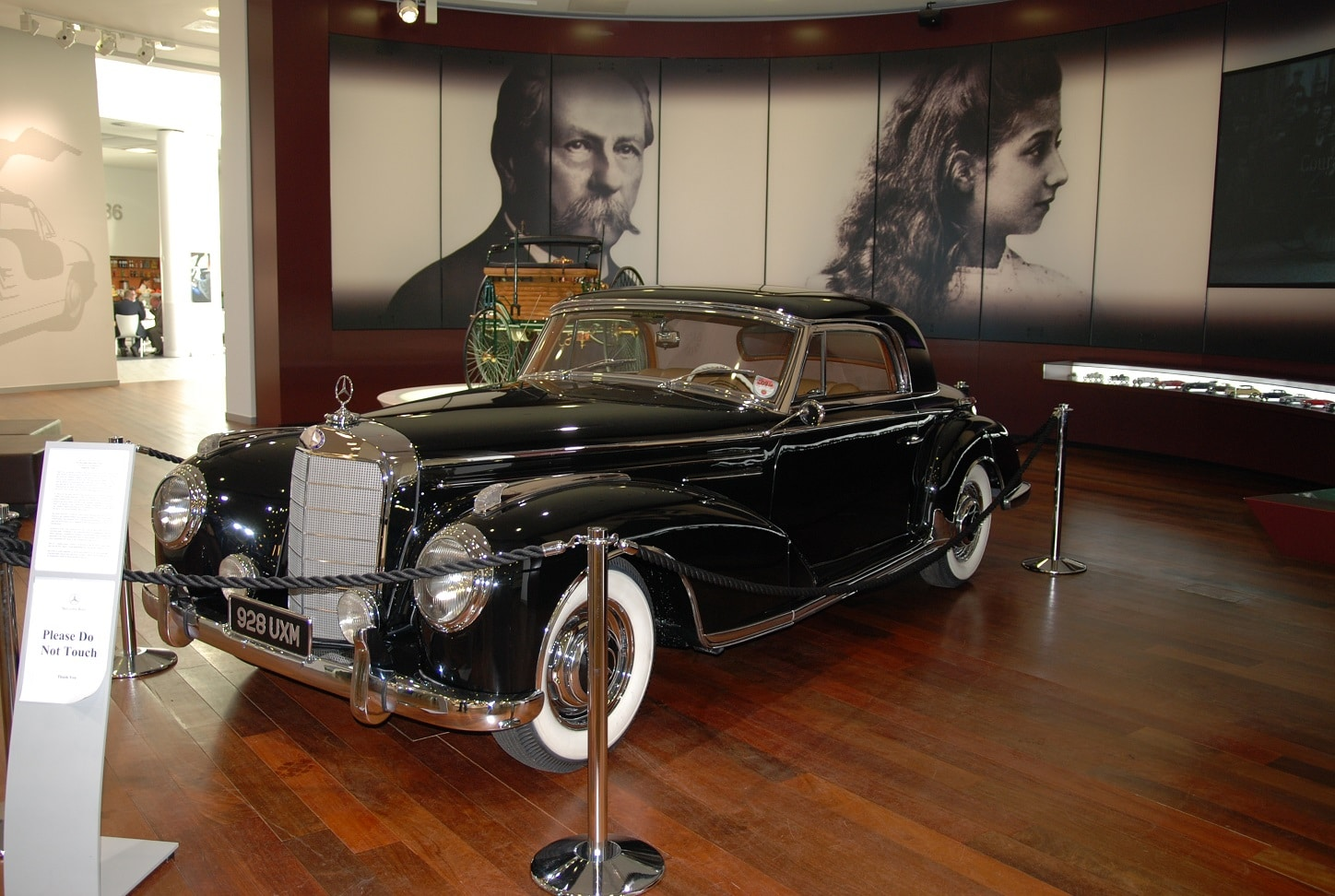 1955 the Mercedes-Benz 300SC on display at Mercedes-Benz World